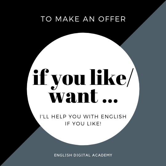 how to use if to make an offer