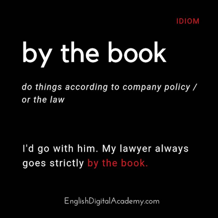 idiom by the book