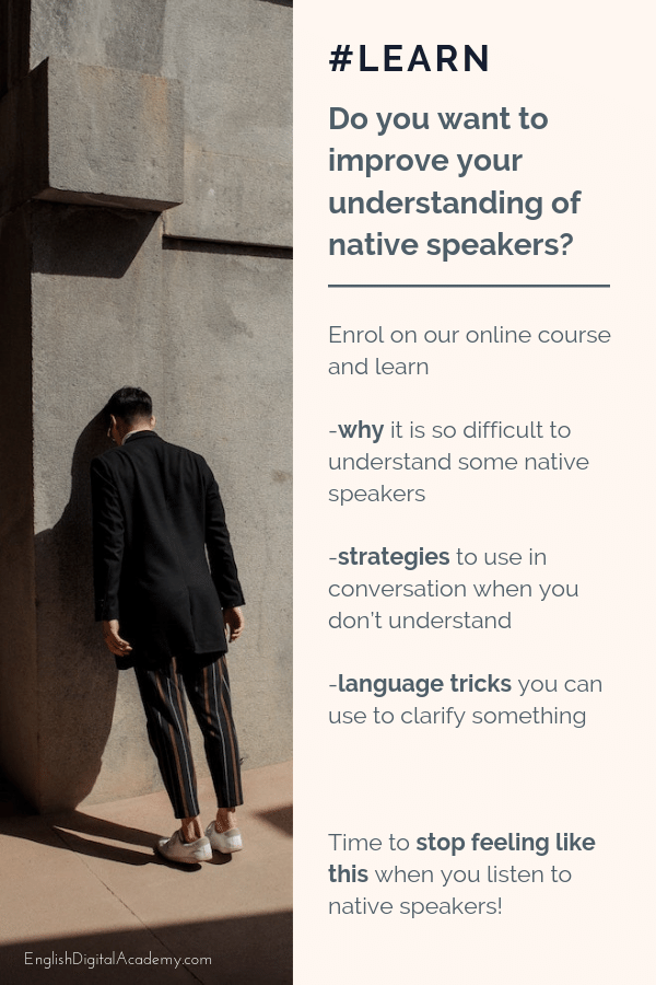 Online English course understand native speakers