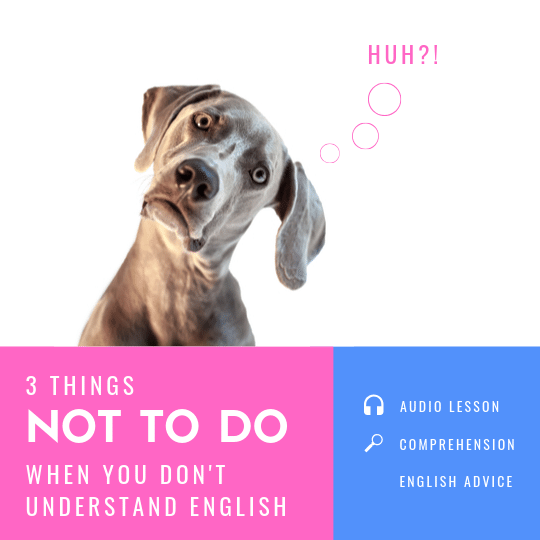 3 things not to do when you don't understand English speakers