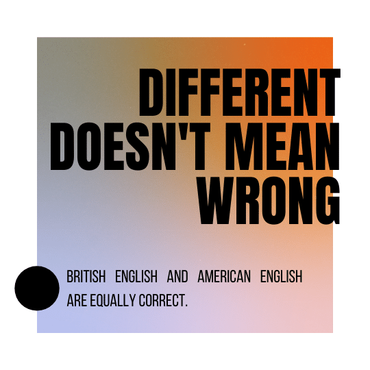 Advanced English differences between American English and British English