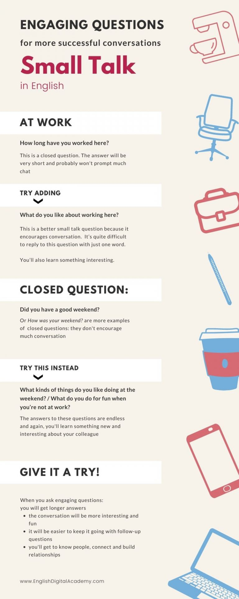 small talk infographic