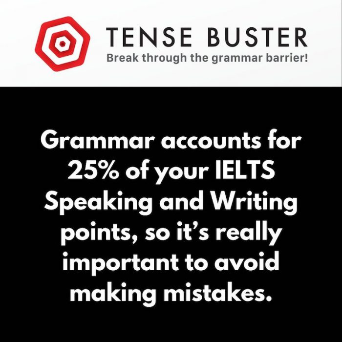 Tense Buster EDA for IELTS online courses